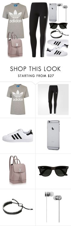 """""""Sin título #12804"""" by vany-alvarado ❤ liked on Polyvore featuring adidas, adidas Originals, Ray-Ban, Links of London and Beats by Dr. Dre"""