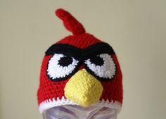 Cartoon Angry Birds Handmade Crocheted by MotivesAndPatterns, $15.99