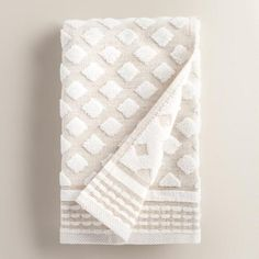 One of my favorite discoveries at WorldMarket.com: Linen Diamond Marielle Sculpted Hand Towel