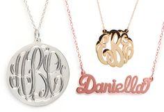 Different #Monogram #Necklaces from BaubleBar http://baublebar.com/index.php/rewardsref/index/refer/id/37708/