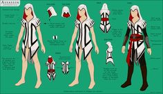 After many concept ideas for an Assassin's Creed apprentice Assassin costume for Comic-Con, this is the final design I came up with a couple weeks ago. I've been working on making it since, and I'm. Assassins Creed Cosplay, Assassins Creed Female, Assassin Costume, Cosplay Diy, Cosplay Outfits, Cosplay Costumes, Halloween Costumes, Cosplay Ideas, Costume Ideas