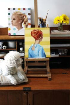 Painting desk of Rose Miller www.wolgangandrose.com