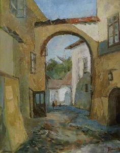 Andrei Branisteanu  - Arcada la Sighisoara Painting, Art, Art Background, Painting Art, Kunst, Paintings, Performing Arts, Painted Canvas, Drawings
