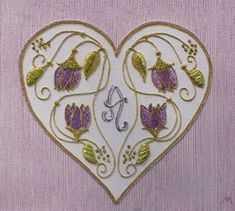 Heart of Gold Needlepoint by Meredith Willett