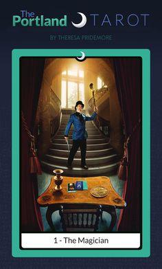 """1 - The Magician"" Card - The Portland Tarot Major Arcana by Theresa Pridemore"