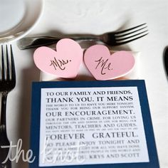 Thank You Place Settings