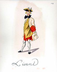 French Army 1735 by Gudenus - Infantry Regiment Lionne