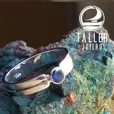 Anillo plata de ley 950 con circón A0-702 #anillodeplata - Taller Joyero confección y diseño de joyas, Joyería online.