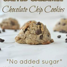 Flourless Salted Caramel Chocolate Chip Cookies