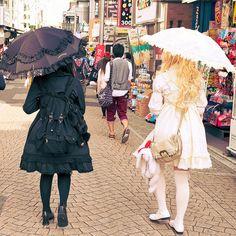 Lolitas on Takeshita Dori, Harajuku by tokyofashion, via Flickr