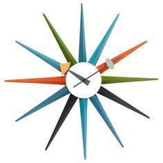 Buy Vitra Sunburst Wall Clock, Dia.47cm | John Lewis