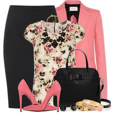Black & Rose, created by brendariley-1 on Polyvore