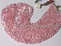 Morganite Smooth Nuggets Gemstone Beads.