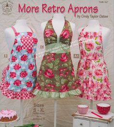 MORE Retro Aprons pattern book by Cindy Taylor Oates - http://www.sewthankful.com/TaylorMadeDesigns.html