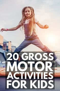 20 Gross Motor Activities for Kids | Whether you're looking for fun games, exercises, or an obstacle course to help develop your child's large muscles, or need more specific ideas for kids with autism and other special needs as part of their occupational therapy program, these indoor and outdoor ideas can be re-created with simple things like painters tape, chalk, pillows, balloons, and an exercise ball. #grossmotor #grossmotoractivities #autism #occupationaltherapy #obstaclecourse
