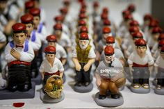 The 'caganer'  in a gift market, Barcelona