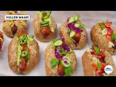 Vegan hotdog van wortel - Allerhande - YouTube 20 Min, Ketchup, Baked Potato, Potatoes, Baking, Ethnic Recipes, Food, Youtube, Patisserie