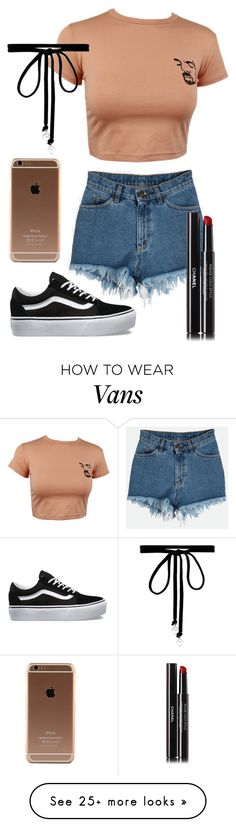 """""""Untitled #637"""" by hey-there-its-kylah on Polyvore featuring Vans, Joomi Lim and Chanel"""