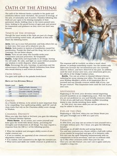 Post with 6246 views. [Paladin Subclass] Oath of the Athenai