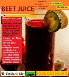 Benefits of beet juice.