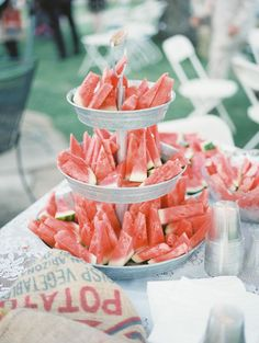A watermelon table for a summer wedding? Yes, please. See more @TracyEnoch #dessertideas #healthyweddingfood  #eventplanner #eventplanners #eventplanning #weddingplanner #weddingplanners #weddingplanning #eventstudent #eventstudents #eventinstitute #eventprof #eventprofs #eventdecor #eventdesign #weddingdecor #weddingdesign  www.specialeventsinstitute.com