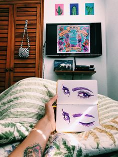 It's in the eyes. Always the eyes Bedroom Bed, Drawing S, Sketching, Happiness, Eyes, Colors, Art, Illustrations, Art Background