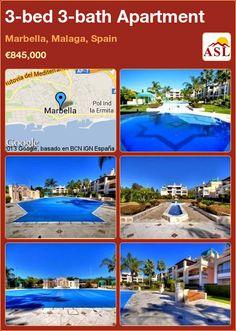 3-bed 3-bath Apartment in Marbella, Malaga, Spain ►€845,000 #PropertyForSaleInSpain