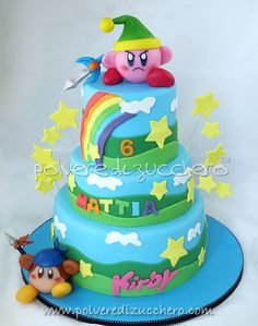 Kirby cake. My son is set on this for his next party!