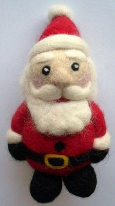 Santa needle felting pattern by loopy lou designs, via Flickr
