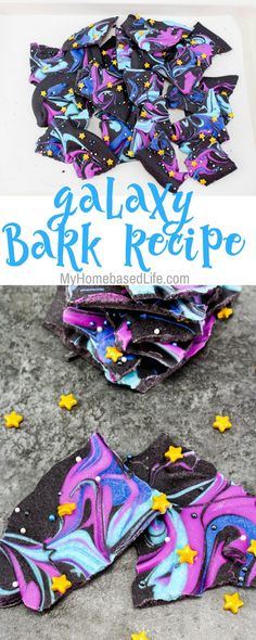 Recipes Snacks Kids A Far-out chocolate dessert for little astronauts, make this Galaxy Bark Recipe today with your little ones and see how creative they get. Chocolate Galaxy, Chocolate Bark, Chocolate Desserts, Chocolate Recipes For Kids, Candy Recipes, Dessert Recipes, Dinner Recipes, Uk Recipes, Healthy Recipes