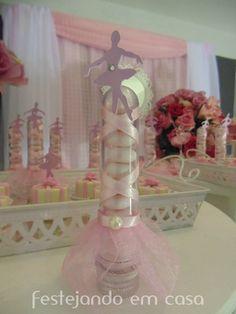 Decoration ballerina party. Decoração de festa bailarina. Mimos personalizados.