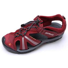 EpicStep Womens Red Velcro Straps Outdoor Hiking Walking Trekking Athletic Sports Fisherman Sandals 55 M US *** Read more reviews of the product by visiting the link on the image.