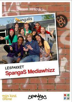 SpangaS-Mediawhizz - Vijf lessen over mediawijsheid  Het lespakket bestaat uit vijf lessen waarbij leerlingen onder andere aan de hand van korte fragmenten nadenken over de thema's mobiele telefonie, informatievaardigheden, games, chatten en kopiëren van internet. Ook reflecteren kinderen op hun eigen imago door te kijken wat er nu over hun op het internet staat en ontdekken kinderen wat voor mediagebruikers zij zijn.      http://www.spangas.nl/mediawhizz/