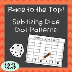 Subitizing of dots is an important part of building early number sense, and students usually start with regular dice patterns. Help your students practice subitizing regular patterns with this fun game! Can be done independently or with a small group.Materials needed: one regular dot dice