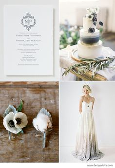 Dusty Blue Nuptials | Flights of Fancy (click for sources)
