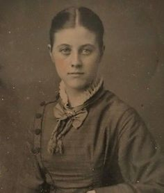 Tintype-Photograph-Showing-Teen-Girl-Sitting-Very-Pretty-2-1-2-x-3-3-4-inches