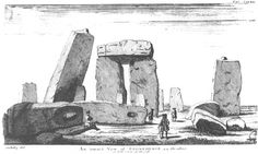 Plate 21. An inward View of Stonehenge or Side view of the cell. AA the altar.