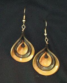 Organic polymer clay earrings - karooart