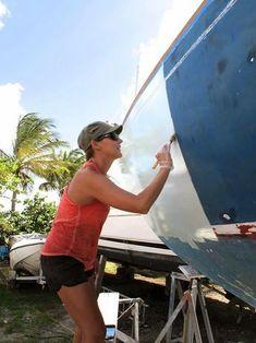 diy fiberglass boat painting