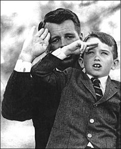 Bobby Kennedy and his son