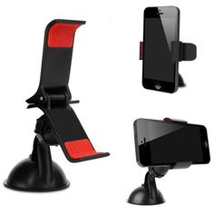 ANRANK MH360DAK Car Phone Mount - 360 Degree Car Suction Cup Mount Stand Bracket Phone Holder Clip For iPhone 6S Samsung S7/S6 LG Google HTC for PDA MP4 On Car And Other Flat Smooth Surfaces - Black. GUARANTEE - 100% money back guarantee (we have tested our product personally and feel you will love it as much as we do). PRACTICAL - Swivel adjusts to landscape or portrait. The ball socket rotates for best viewing angles for driver or passenger while staying snug. Access for charger plug…
