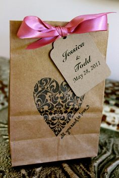 paper favor bags.  Wonder if you can feed paper bags through a printer?  I think I will try
