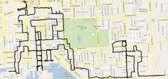 Michael Wallace, el artista cuyo pincel es la bici y un mapa su lienzo - Cooking IdeasCooking Ideas