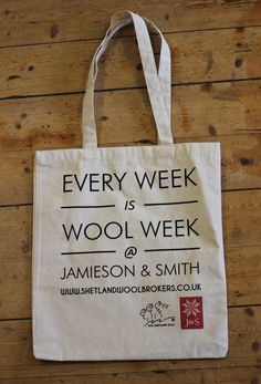 Wool Week Project Bag - Jamieson and Smith, Real Shetland Wool, Fair Isle Knitting, Shetland Wool, Knitting Patterns, Yarn