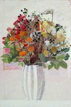 Sydney Licht: Still Life with Flowers, 2015; oil on canvas, 24 x 18 inches