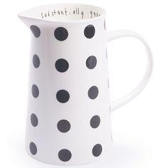 substantially generous jug, 5p dot charcoal --- Lisa Stickley London