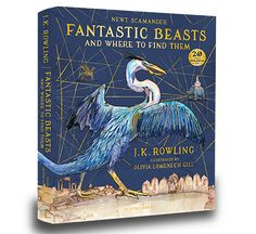 Illustrated Fantastic Beast and where to find them. Harry Potter   J.K. Rowling books