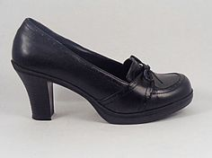 MUDD Steampunk Granny Black Shoes Heels High by pursenbootz, $29.95