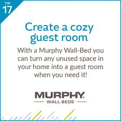 Wintertime often brings overnight visitors during the holiday season. Be ready for anyone and everyone with the addition of a Murphy Wall-Bed.