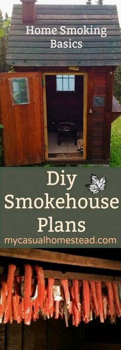[orginial_title] – SHTF Prepping & Homesteading Central DIY Home Smoker Learn how to make a professional Smokehouse at home. A DIY project with simple step by step instructions. Learn food safty and smoking basics. Homestead Survival, Survival Prepping, Survival Skills, Home Smoker, Diy Smoker, Homemade Smoker, Barbecue, Urban Homesteading, Smokehouse
